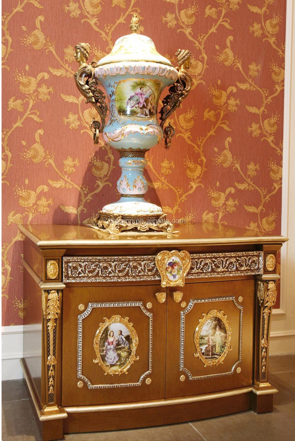 Style rococo français or lit king size / fantastique royal laiton ...
