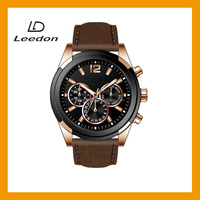 Customized Luxury good plating Popupar high quality mens watches leather