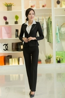 2015 new ladies tuxedo pant suit design for women