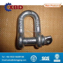 forged screw pin D type anchor shackle