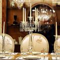 Fabricante de China crystal glass candle holder para decoración de la boda