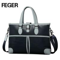 081-3 blue men's handbag vintage leather bag wholesale bag for sale
