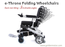 e-Throne! New version! 1 second folding / foldable / portable power electric wheelchair FDA approved, the best in the world