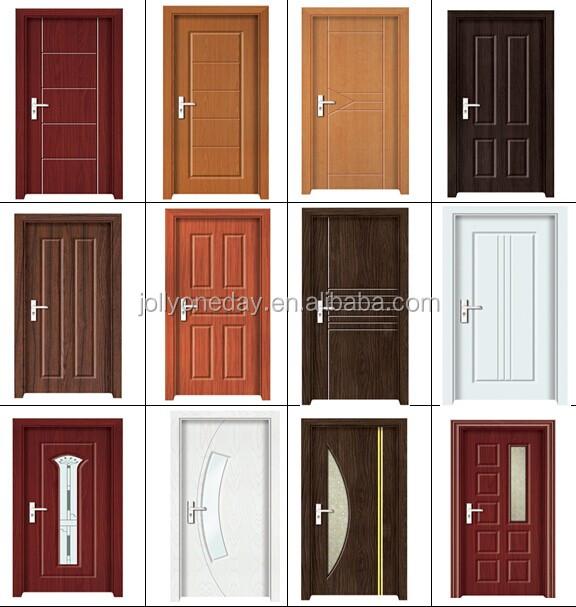 Pvc chambre en bois avec porte en verre portes id de for Porte de chambre en bois