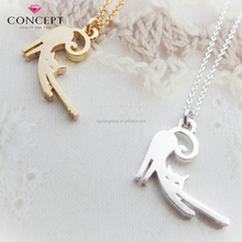 Stainless Steel Fashion Girl's Jewelry Animal Charm for Necklace Lovely Cat Pendant