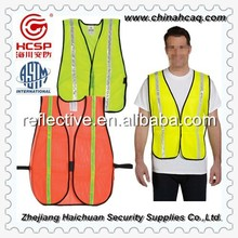New Fashion Design Bright Color Sports Reflective Cycling Clothing,Red Mesh Safety Vest for Men