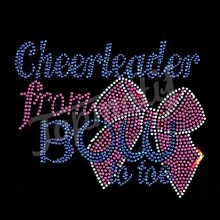 Wholesale cheerleader from Bow Rhinestone Transfer Design iron on clothes