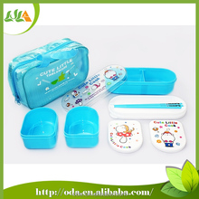 100% Food grade kids lunch box with 3 container and bag