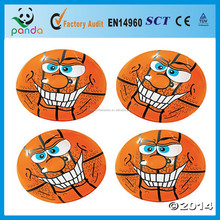 giant orange inflatable basketball with big smile face for kids and adults playing games