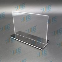 Low price new arrival acrylic menu holder with pen holder