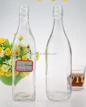 Hot sale liquid clear liquor bottle exporting jose cuervo tequila bottle glass alcoholic bottle empty beverage bottle