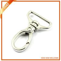 Metal swivel snap hook key ring for handbag