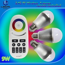 2015 new products on market,Android/IOS mi.light wifi RGBW 9w bulb light led