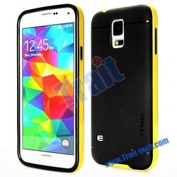 NO MOQ, Basketball Pattern Hybrid PC Bumper + TPU Back Case for Samsung Galaxy S5 i9600