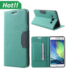 Luxury Flip PU Leather Card slots Wallet Case Cover Pouch leather mobile phone cover for Samsung Galaxy A3 A5 A7