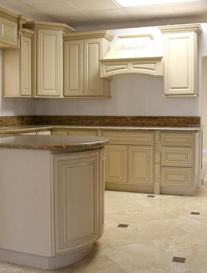 Kitchen cabinets antique white glaze buy kitchen cabinet for Antique white kitchen cabinets
