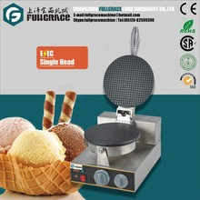 Economical Electric Single Head Round Ice Cream Cone Maker with Timer and Non-Stick Cooking Plate