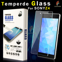 made in china premium 0.33mm slim 2.5d round edge tempered glass skin cover for sony s mobile phone use glass screen protector