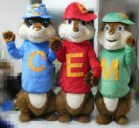 2015 hot sale mascot costume alvin and the chipmunks costumes for adults