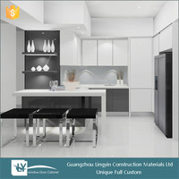 2015 modular high gloss lacquer waterproof kitchen cabinets for wholesale in guangzhou