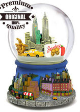 custom resin New York city snow globe