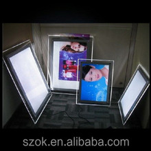 2014 newest design led light acrylic picture frame wholesale
