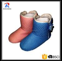 women winter indoor kintted western boots