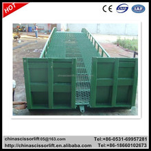 10000kg Hydraulic container ramp cost, China mobile yard ramp for forklift