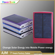 OEM/ODM factory 10000mah solar power bank portable charger extended battery power bank