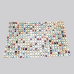 Colorful Rhinestone Sticker Sheets Hot Fix Rhinestone Mesh
