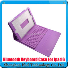 Wireless Bluetooth Silicone Keyboard +Leather Cover Case For Apple iPad Air 2 for iPad 6 2014