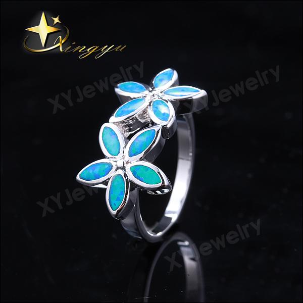 2015 Moda coração prata anel opala, casamento presente opala <span class=keywords><strong>festa</strong></span> prata mulher anel, novo elegante opala anel XYR300301