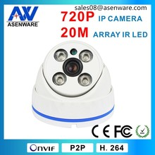 1MP cheap 720p p2p IP dome Chinese surveillance cameras