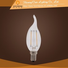 Highly decorative FC35 green lighting 2W led filament lamp