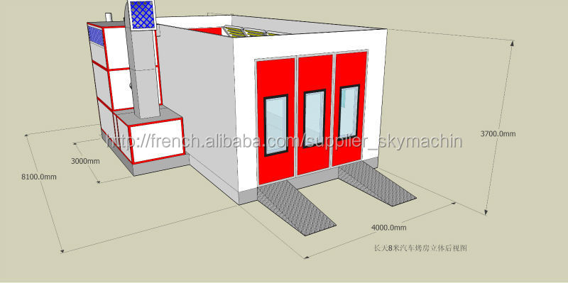 alibaba chine sb 100 eau peinture booth cabine de pulv risation maisons pr fabriqu es id de. Black Bedroom Furniture Sets. Home Design Ideas