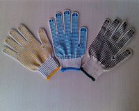 pvc dotted cotton glove/all gloves in sialkot