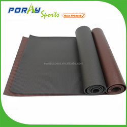 high density custom yoga mat anti slip black yoga mat eco
