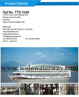 TTS-1049:178 passengers Luxury cruise ship for sale