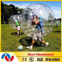 Hot selling adult body TPU/PVC inflatable bumper ball for sale