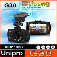 G30 Novatek 96650 FULL HD 1080P Digital Zoom 2.7 Inch 170 Degrees Car DVR rearview mirror with G-sensor and Motion Detection