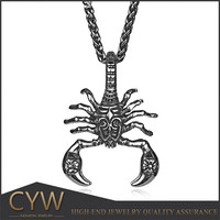 Europe Style King Scorpion Titanium Steel Charms Made In China Guangzhou