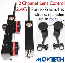 2 Channels Lens Control Motorized Wireless universal Follow Focus and Zoom/Iris system With 2 motors Operation up to 200M