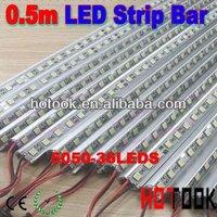 New 5050 0.5m 50cm 36-LED 12V LED Hard Strip Bar Light String lighting + Aluminium Alloy Shell Housing CE RoHS Warranty 2 years