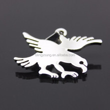 Customized shape stainless steel eagle pendant