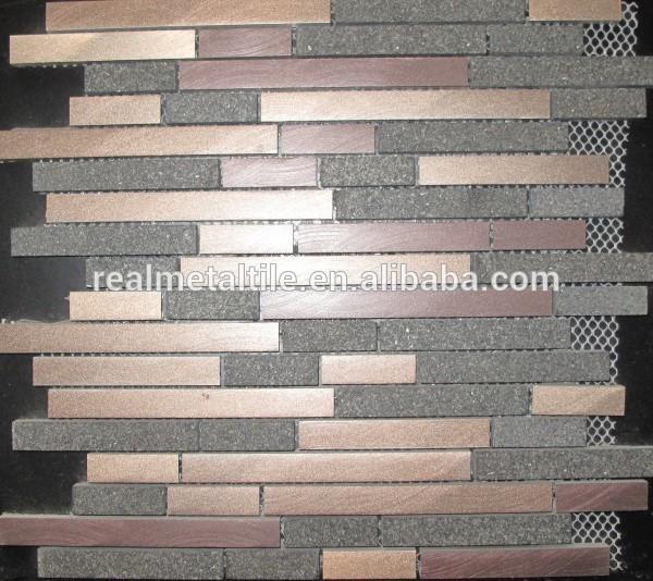 glas nat rliche aluminium stein mosaik fliesen 8 dicke. Black Bedroom Furniture Sets. Home Design Ideas