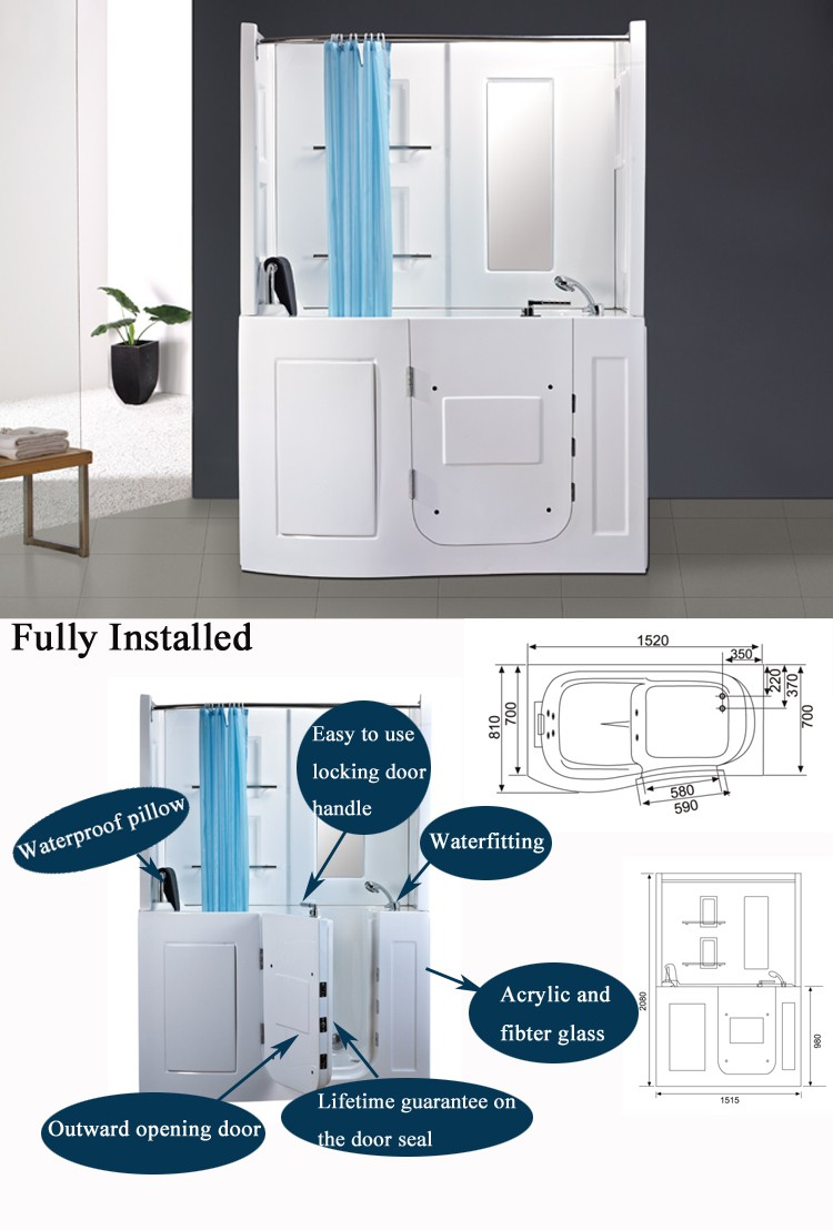 hs b1106b corner bath shower combo small corner tub shower 11 11 wholesaler sale tempered glass shower room corner