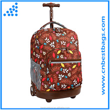 Legend hot style trolley backpack kids school bag with wheels for girls
