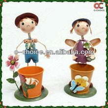 New Removable Cartoon Figure Metal Handicraft Flowerpot Stands