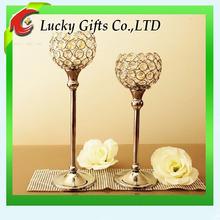 2014 Elegant Crystal Candle Holder For Wedding Decoration