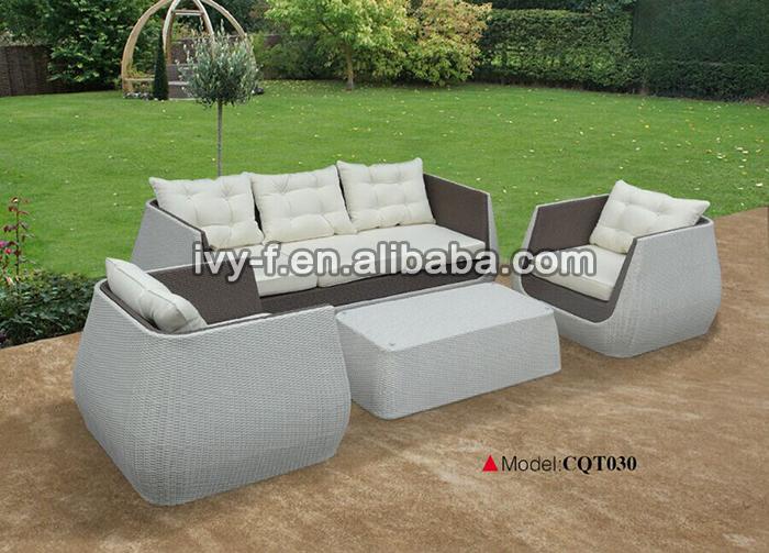 P tio ao ar livre sof de vime sint tico conjunto de sof for Sofa exterior rattan sintetico